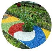 Щебень крашеный декоративный цветной для ландшафта,  клумб