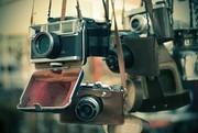 Фотоаппараты старые,  импортные,  советские